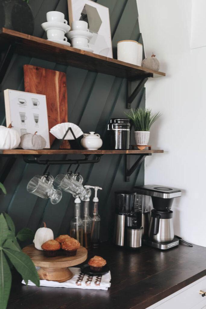 modern fall coffee bar decor ideas