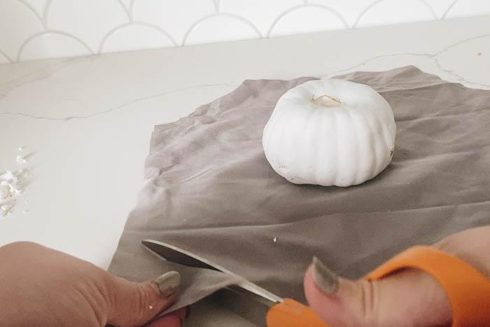 cutting velvet for pumpkins