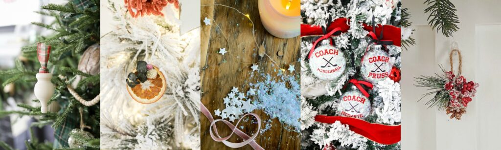 Collage of DIY Christmas Ornaments