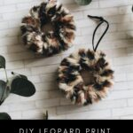 "Ornament Flat lay with text reading ""DIY Leopard Print Ornaments"