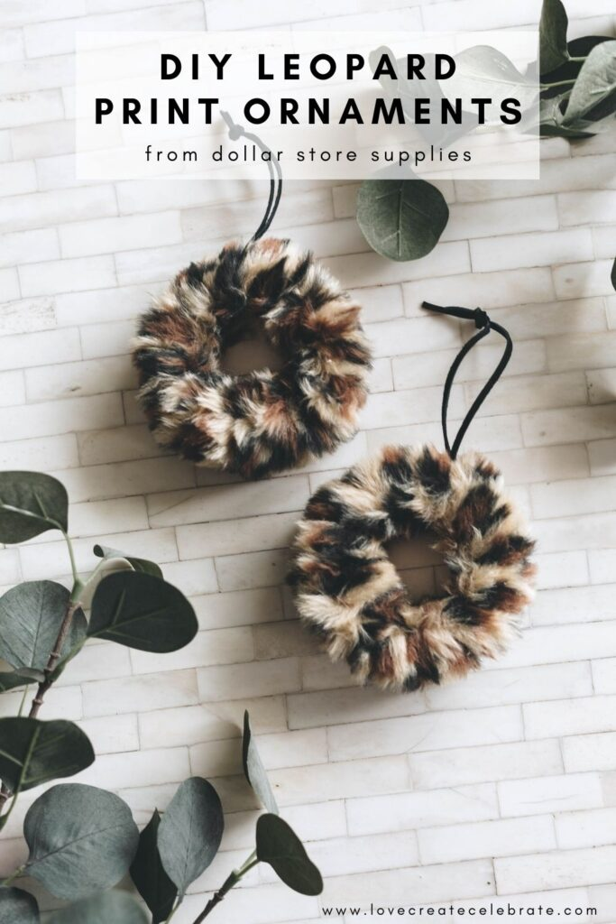 """DIY Leopard Print Ornaments"""