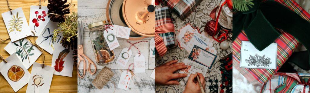 Collage of Printable Christmas Gift Tags