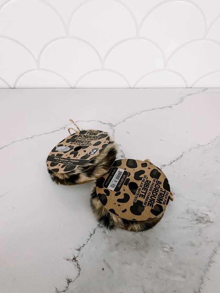 leopard print trim