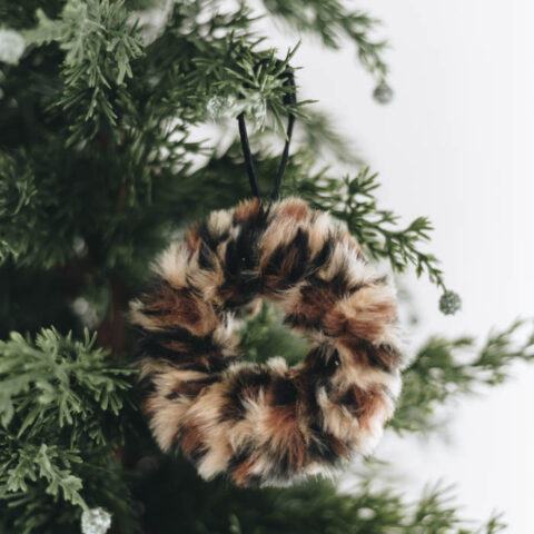 Leopard Print Christmas Tree Decorations
