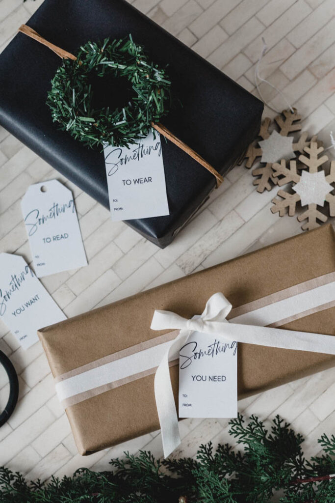 Modern Four Gifts Gift Tags