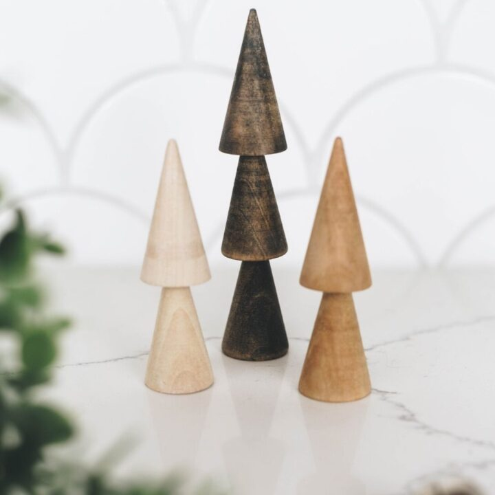 Simple wooden Christmas trees