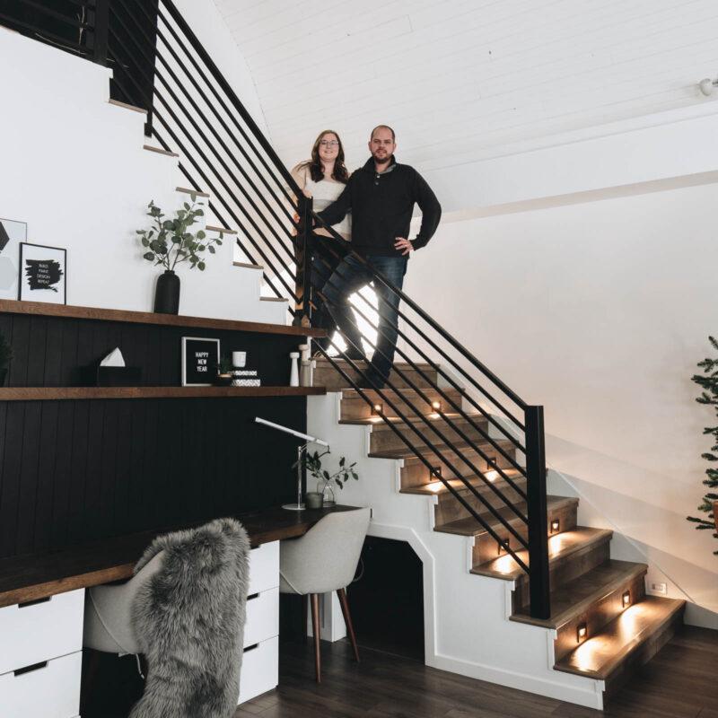 Modern staircase renovation