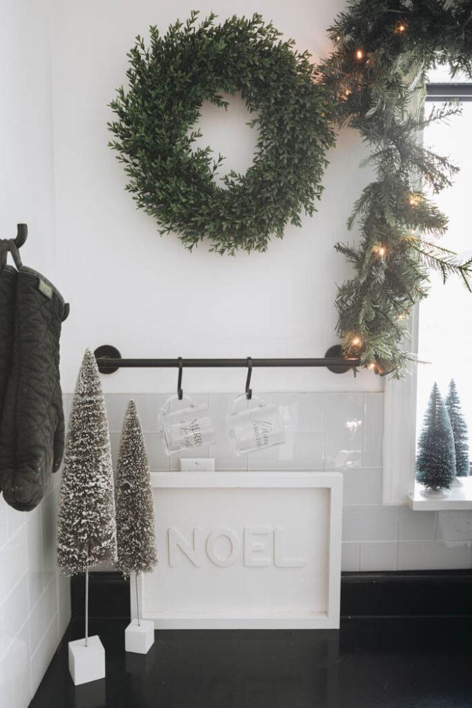 Modern Kitchen Vignette for Christmas