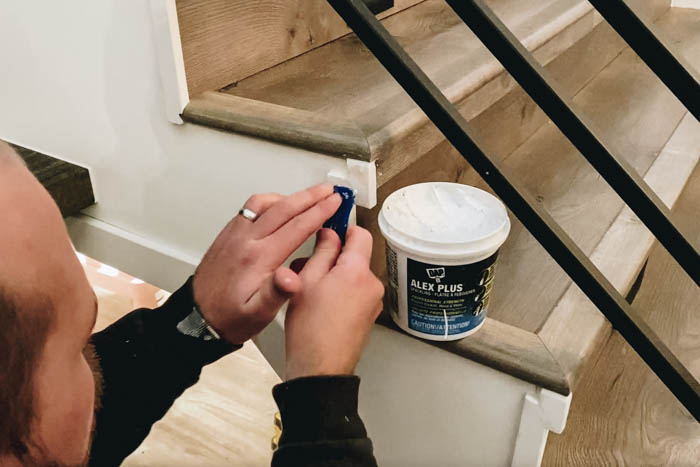 Finishing trim on staircase