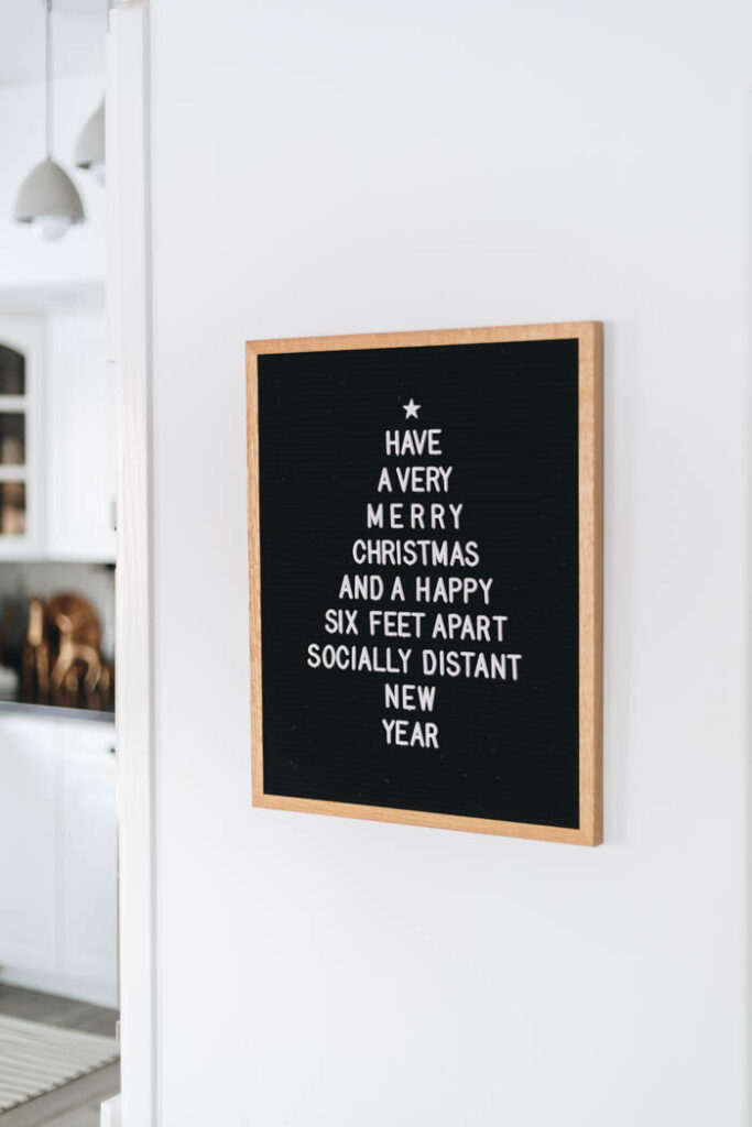 funny 2020 Christmas letter board