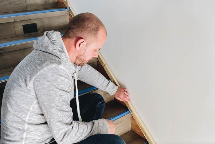 DIY stair moldings