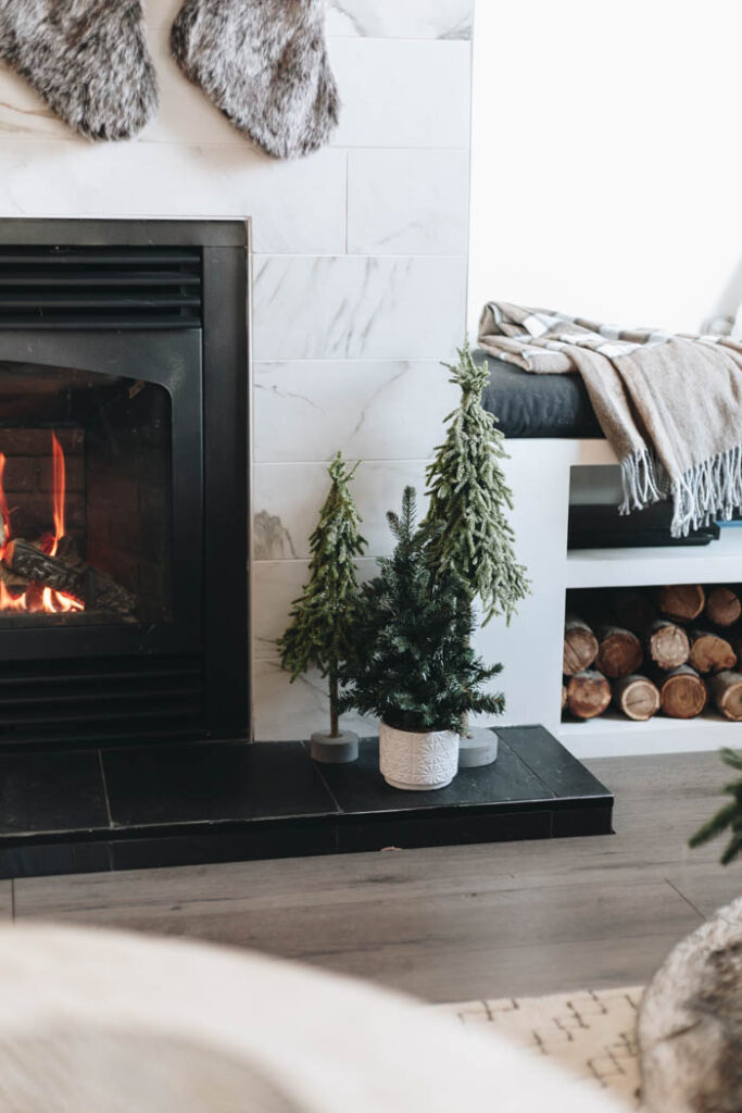 modern fireplace hearth decorations