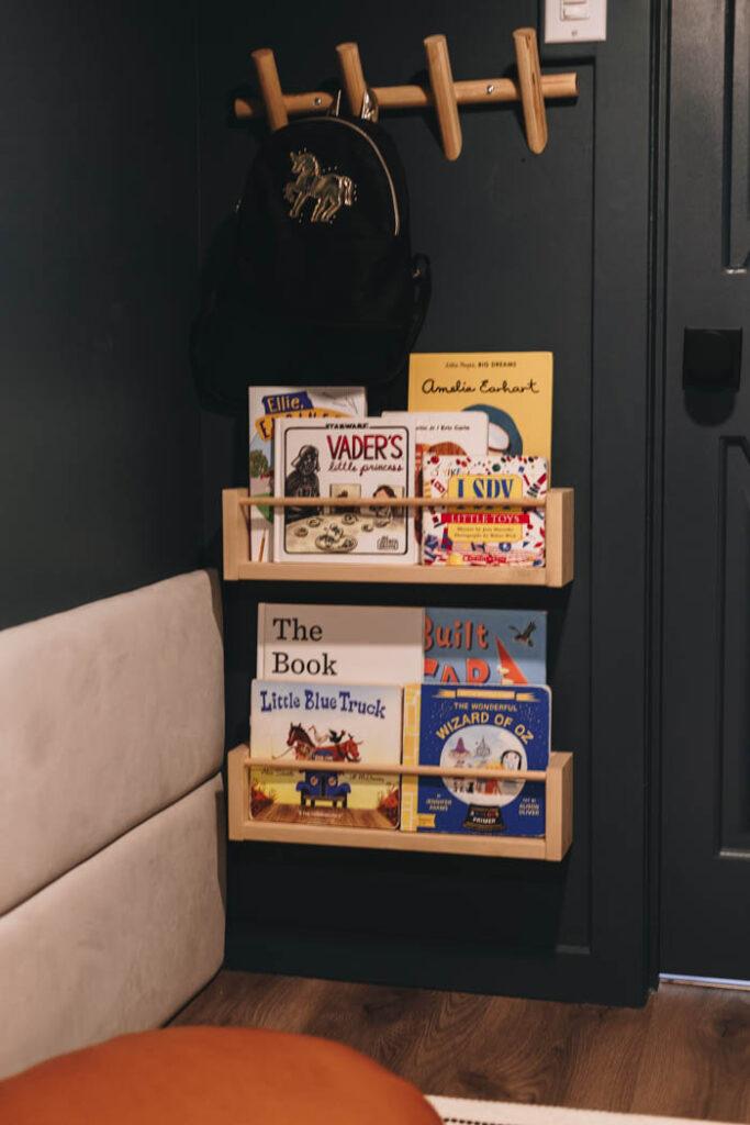 DIY scrap wood shelves