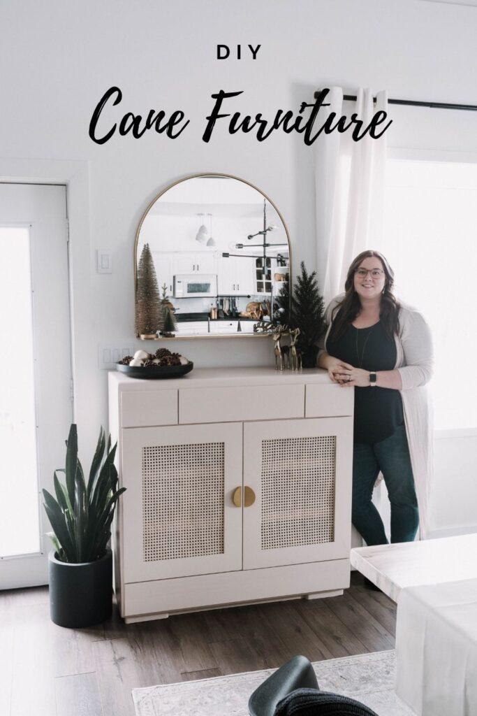 Beautiful DIY Cane Furniture Makeover
