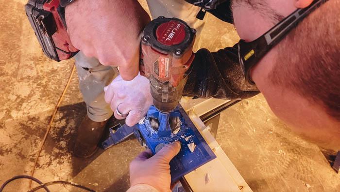 using cabinet hinge jig