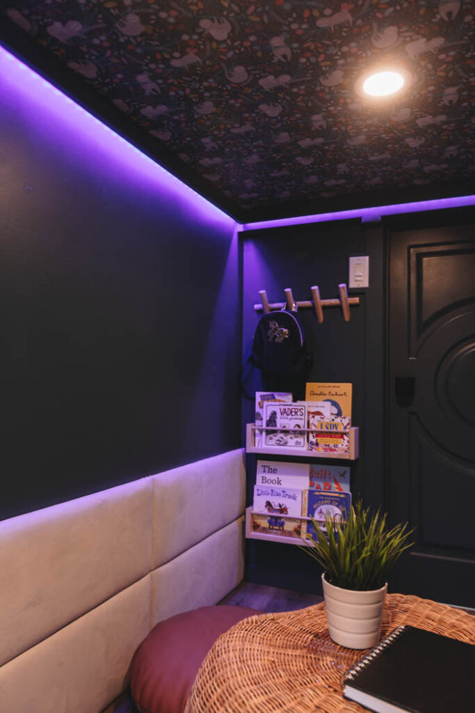 LED lights in a kids playroom or bedroom