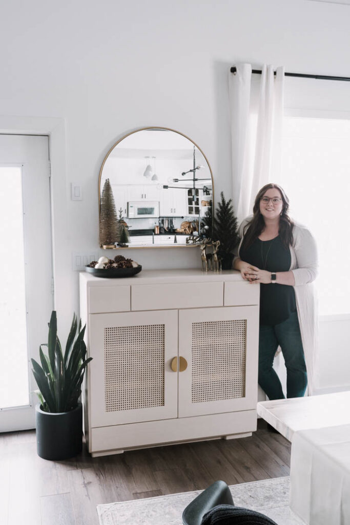 Beautiful modern cabinet makeover