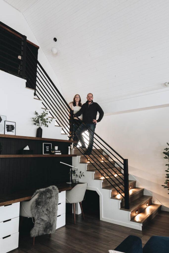Stunning modern DIY staircase
