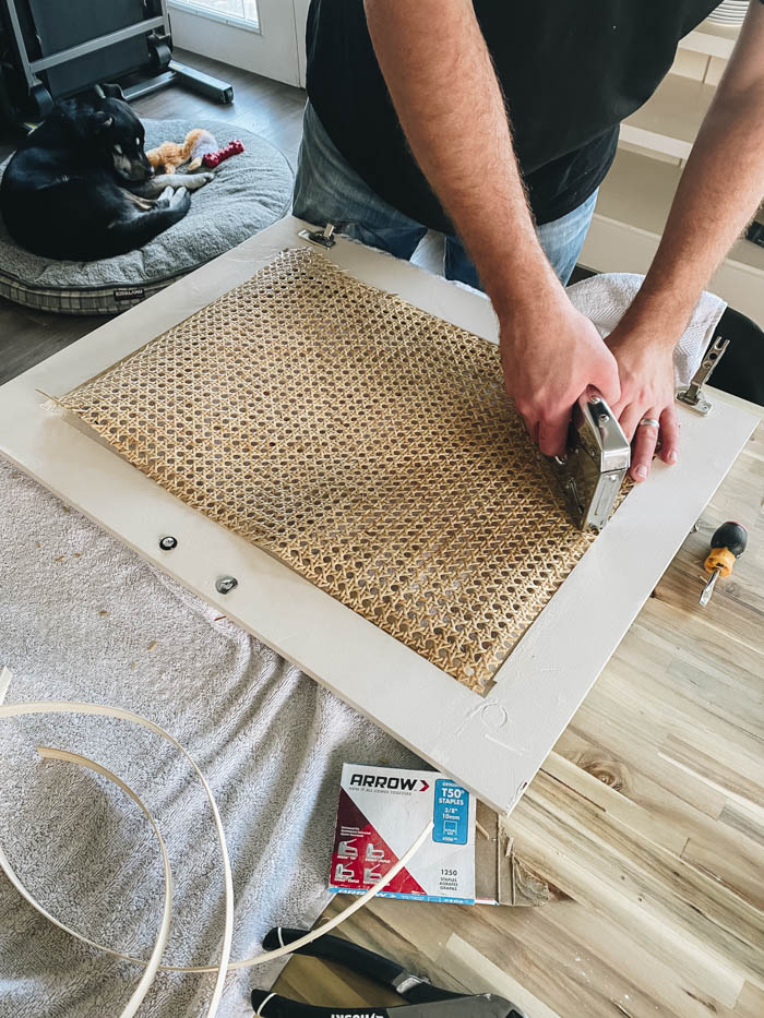 adding caning to cabinet doors