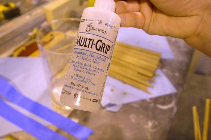 best glue for wood on glass