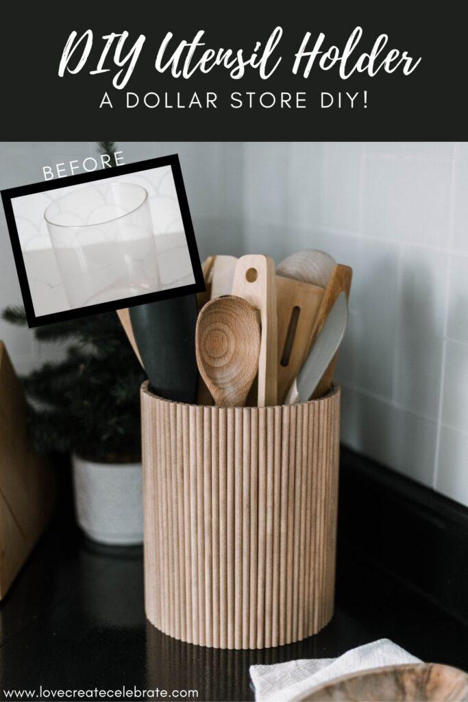 beautiful DIY utensil holder