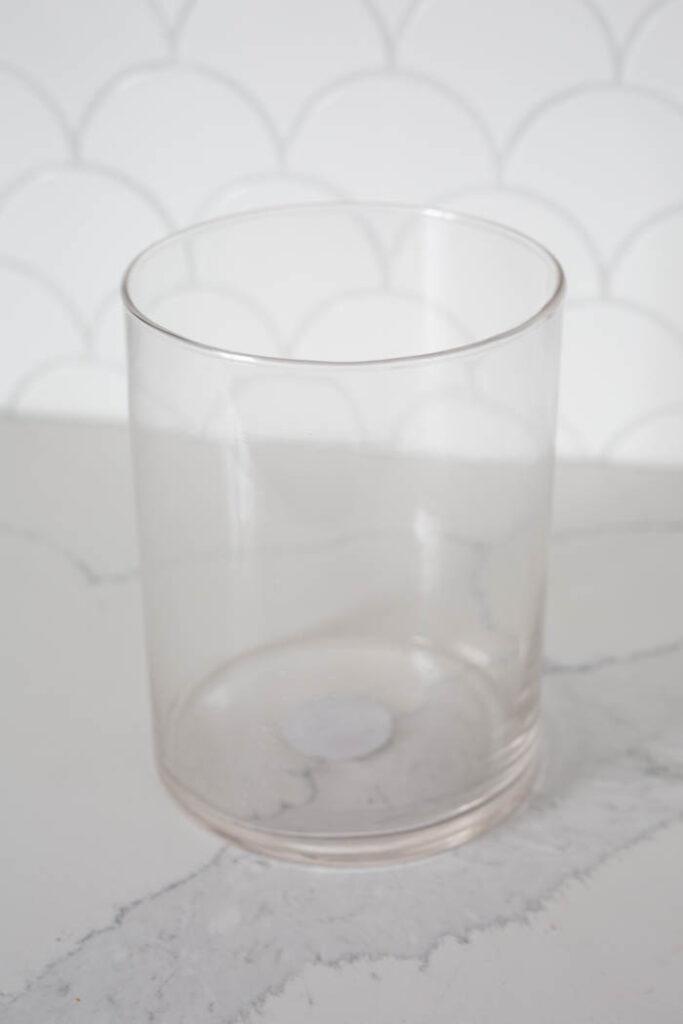 dollar store glass vase upcycle
