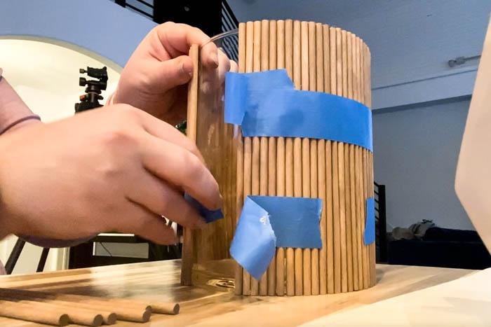 wood dowel DIY project
