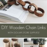 DIY wooden chain links collage