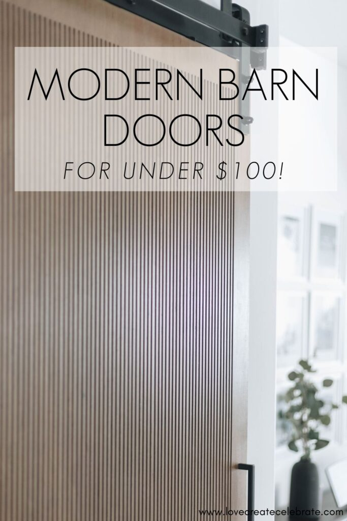 Stunning DIY modern barn doors for under $100