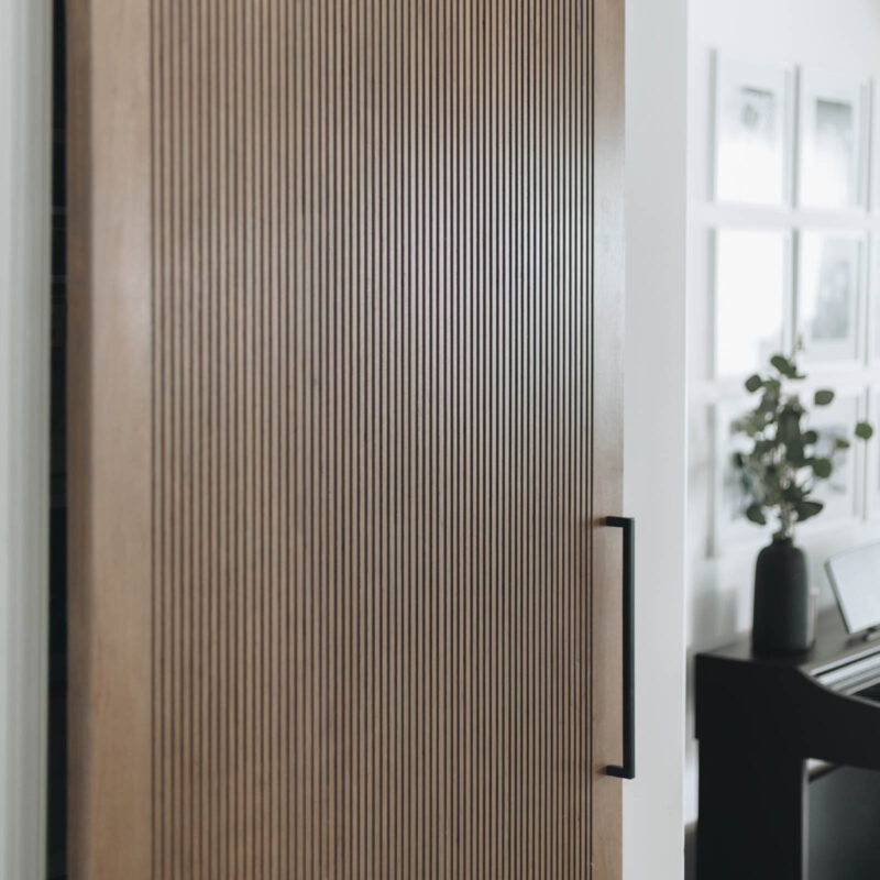 DIY modern barn doors from plywood