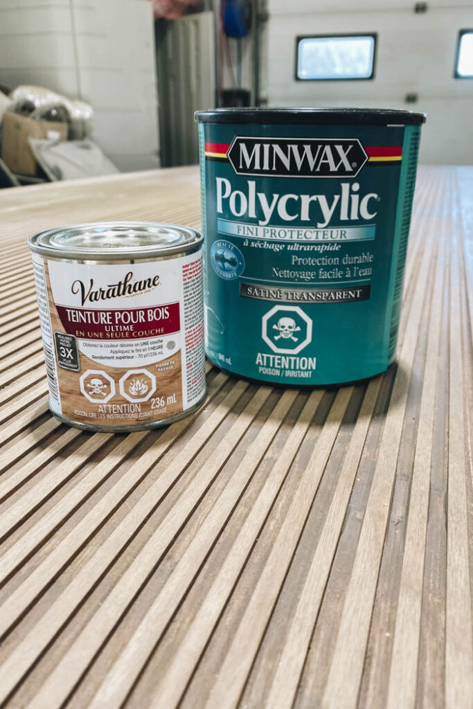 stain and polycrylic for DIY project