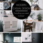 collage of modern casual interior design ideas