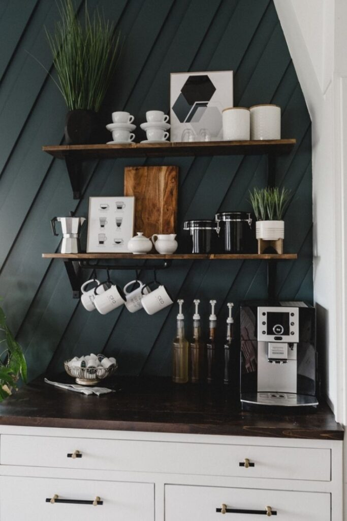 modern casual coffee bar ideas