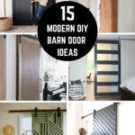 collage of stunning DIY modern barn door ideas