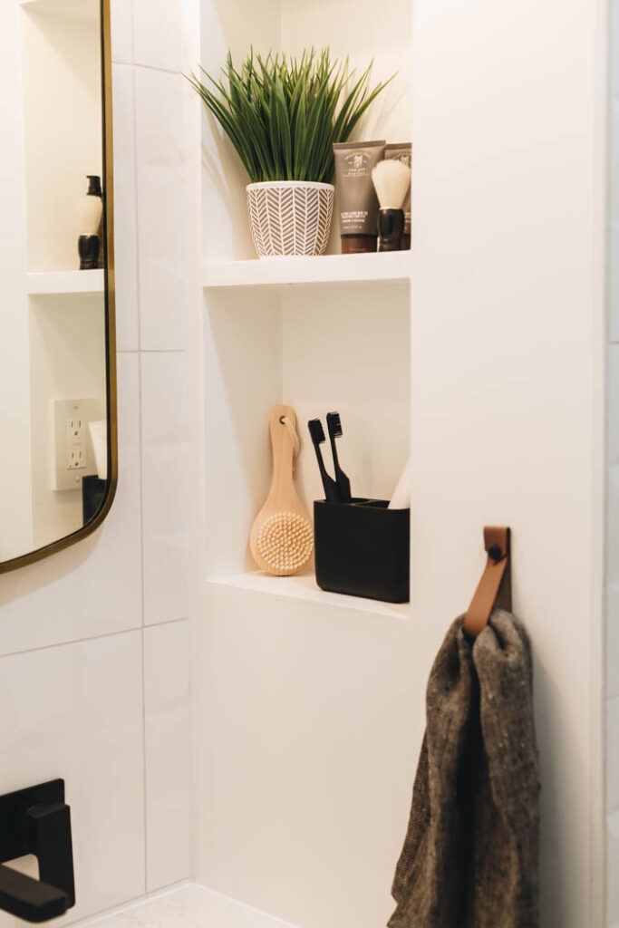 built-in storage niche