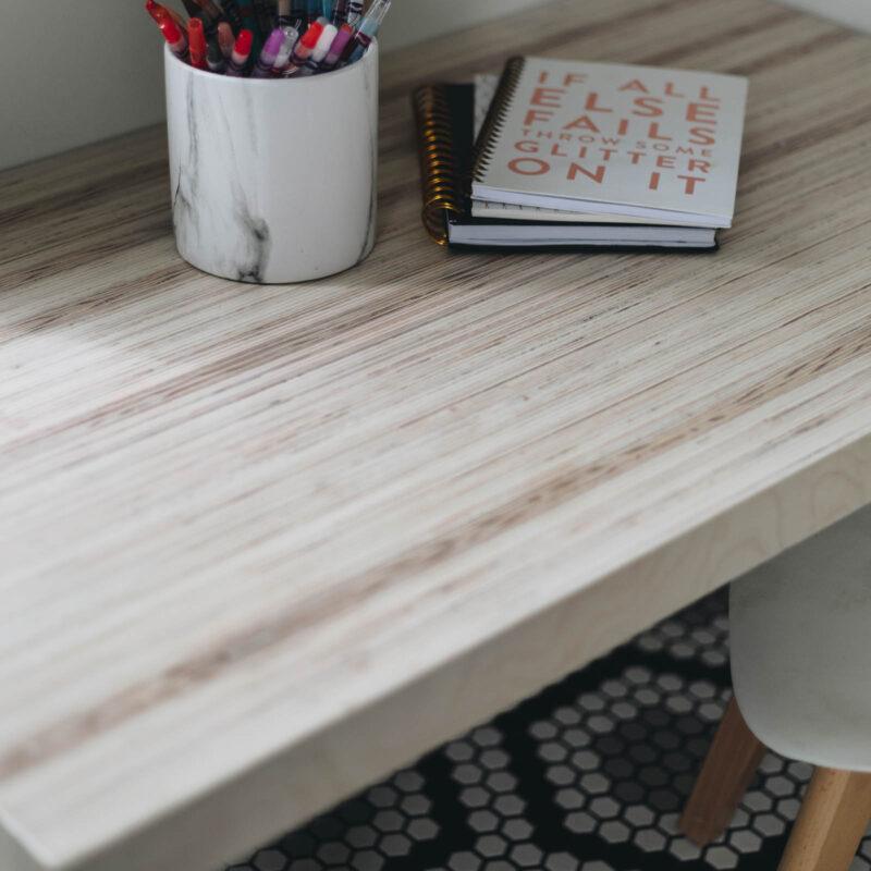 closeup of kid's table