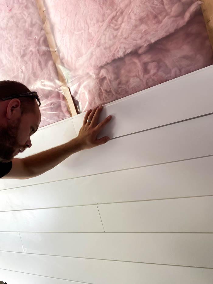 installing shiplap ceiling