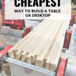 """Scrap Plywood Build with test reading """"the cheapest way to build a table or desktop"""""""