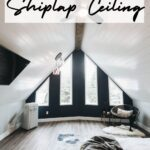easy tutorial for installing shiplap on a sloped wall