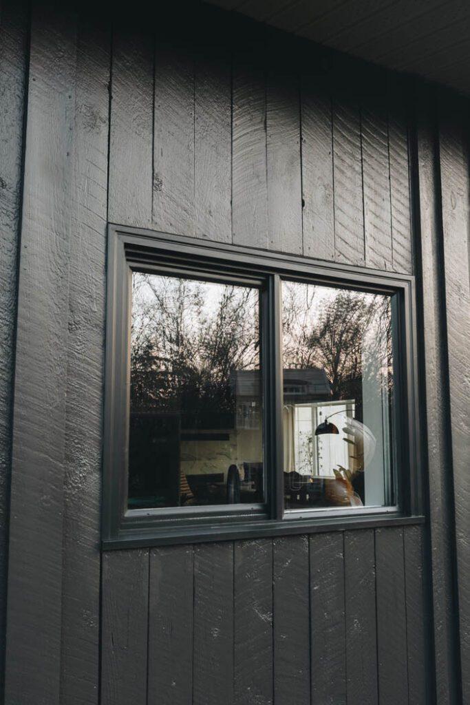 after painting vinyl windows black