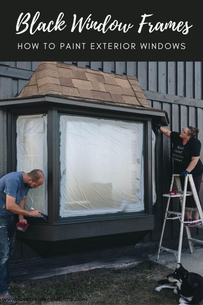 how to paint windows black tutorial