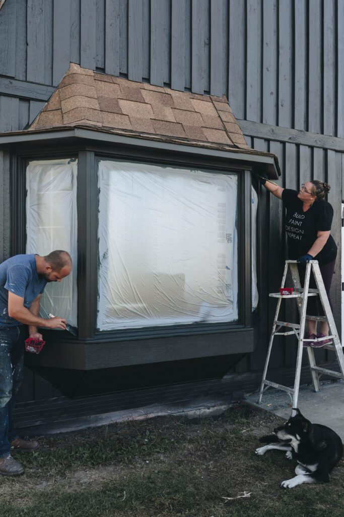 how to paint windows black