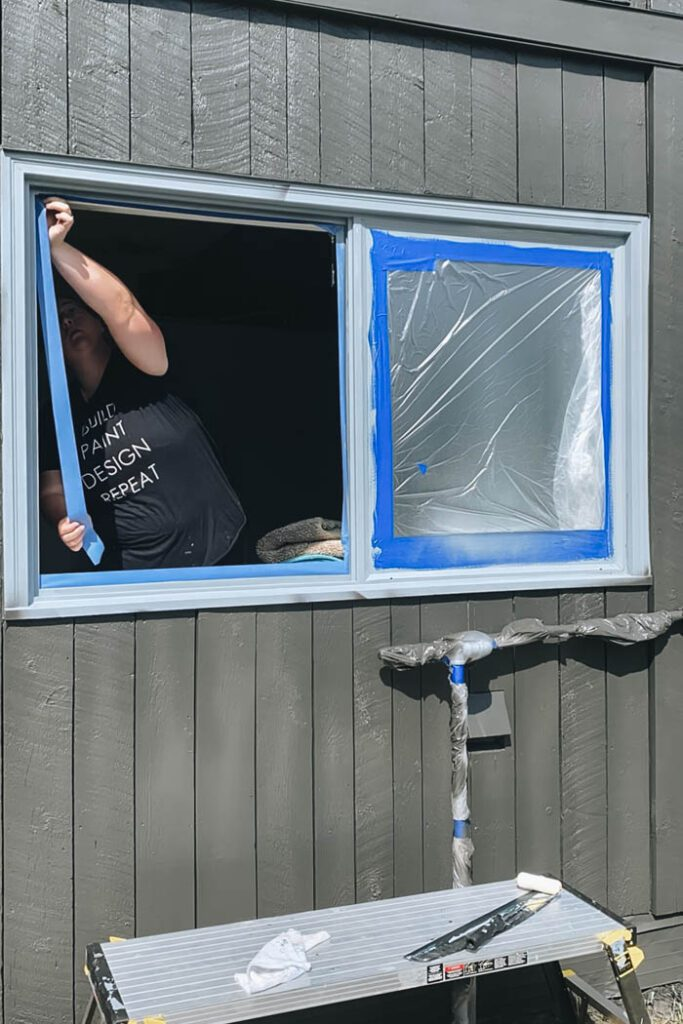 how to protect windows when painting
