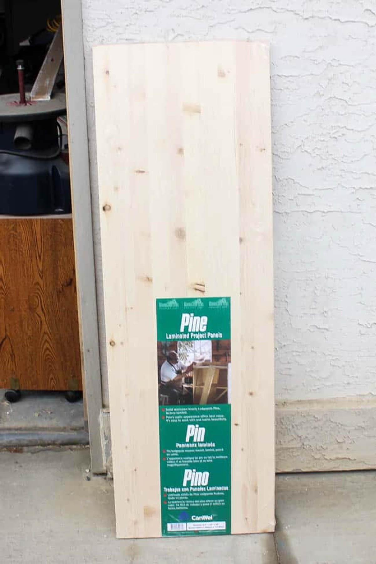 Laminated pine panels for easy floating shelves