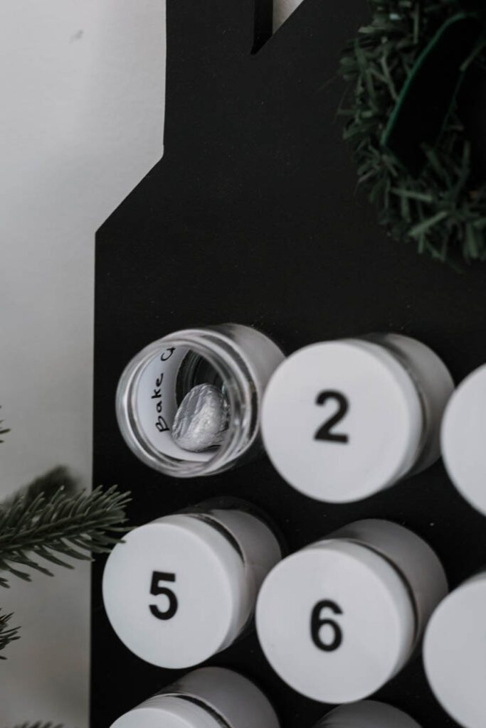 container with lid off on advent calendar