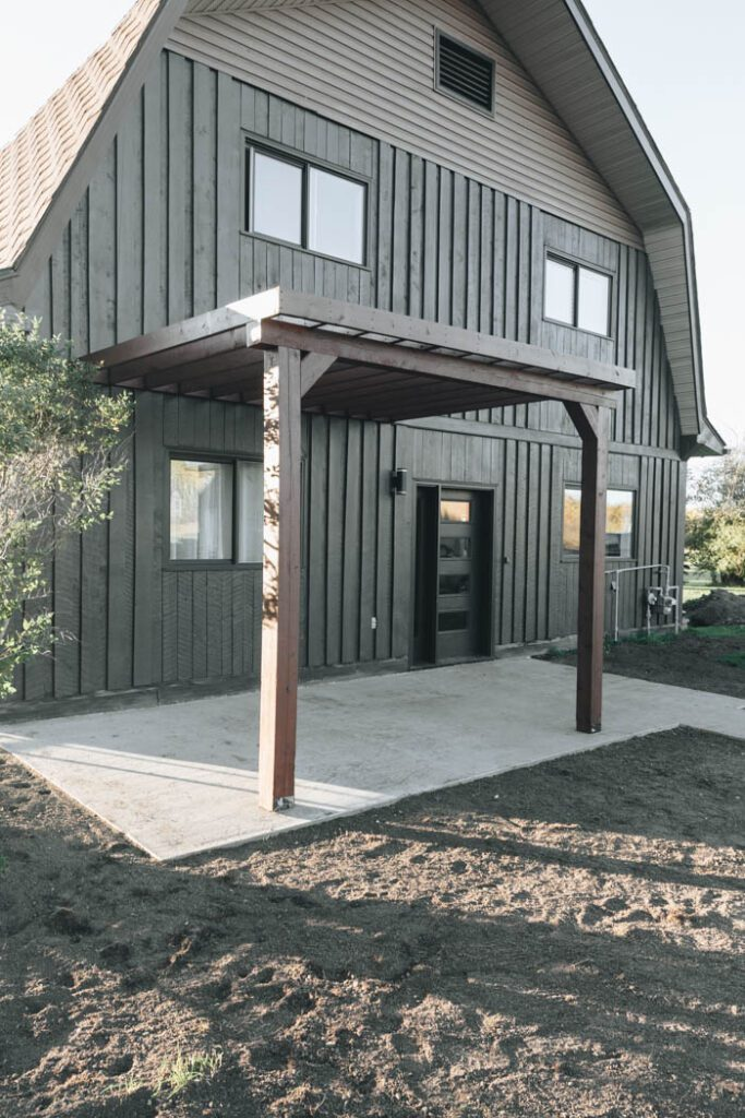 A Modern Pergola Attached to the house