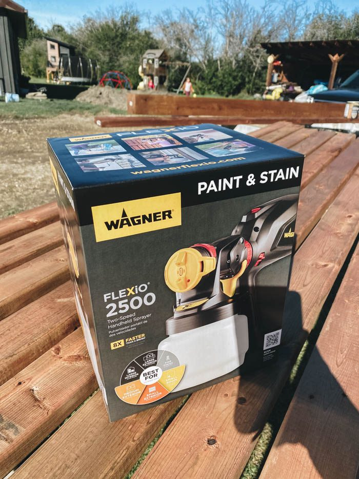 how to use a paint sprayer on a pergola