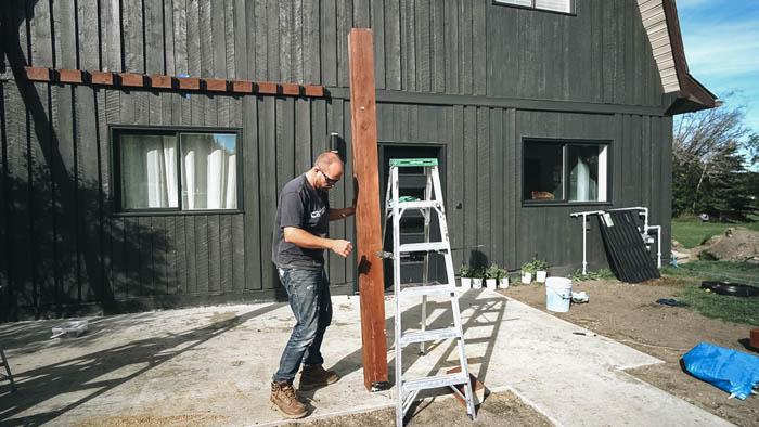 putting pergola posts into concrete