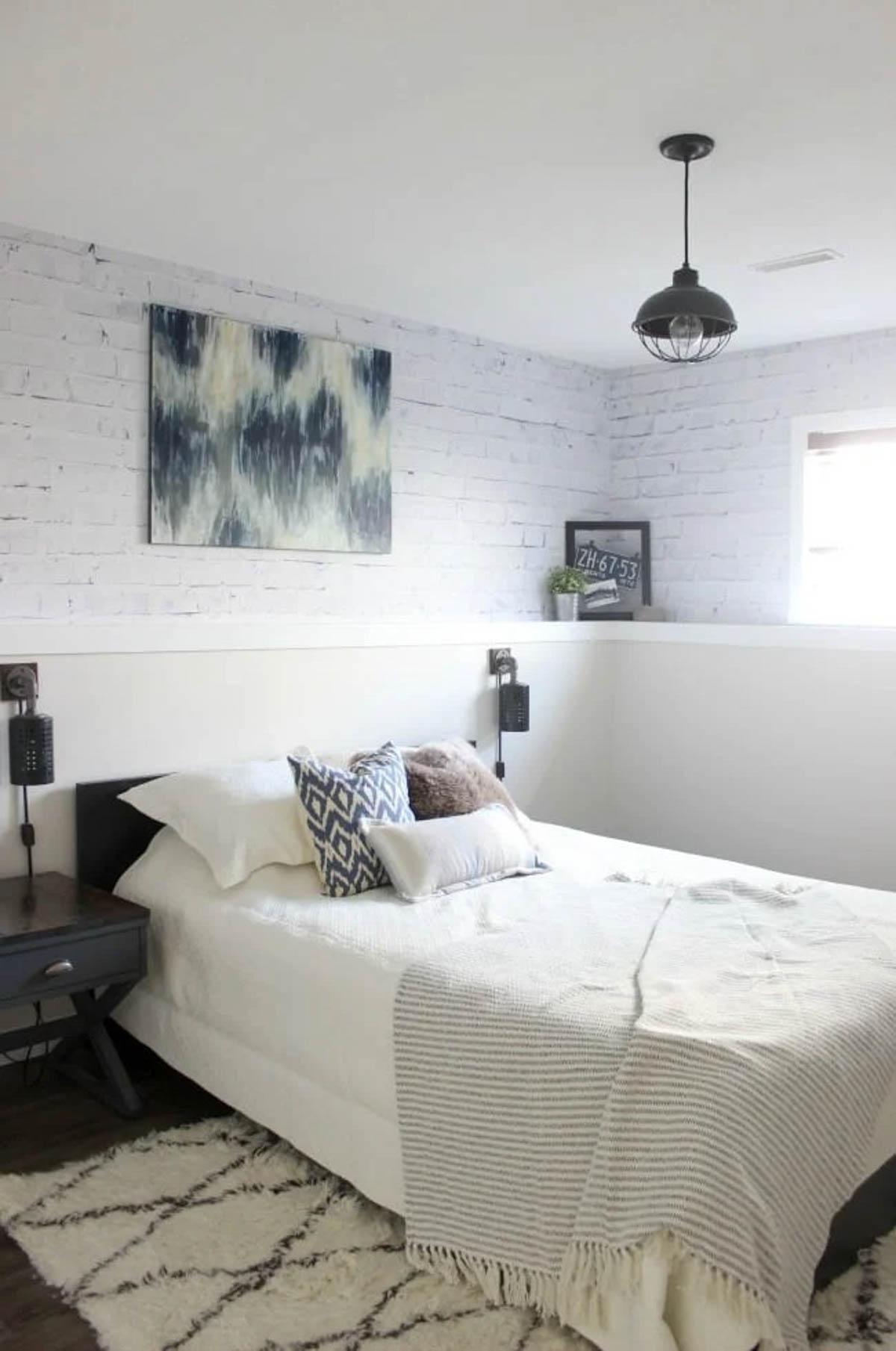 Image of an industrial designed bedroom