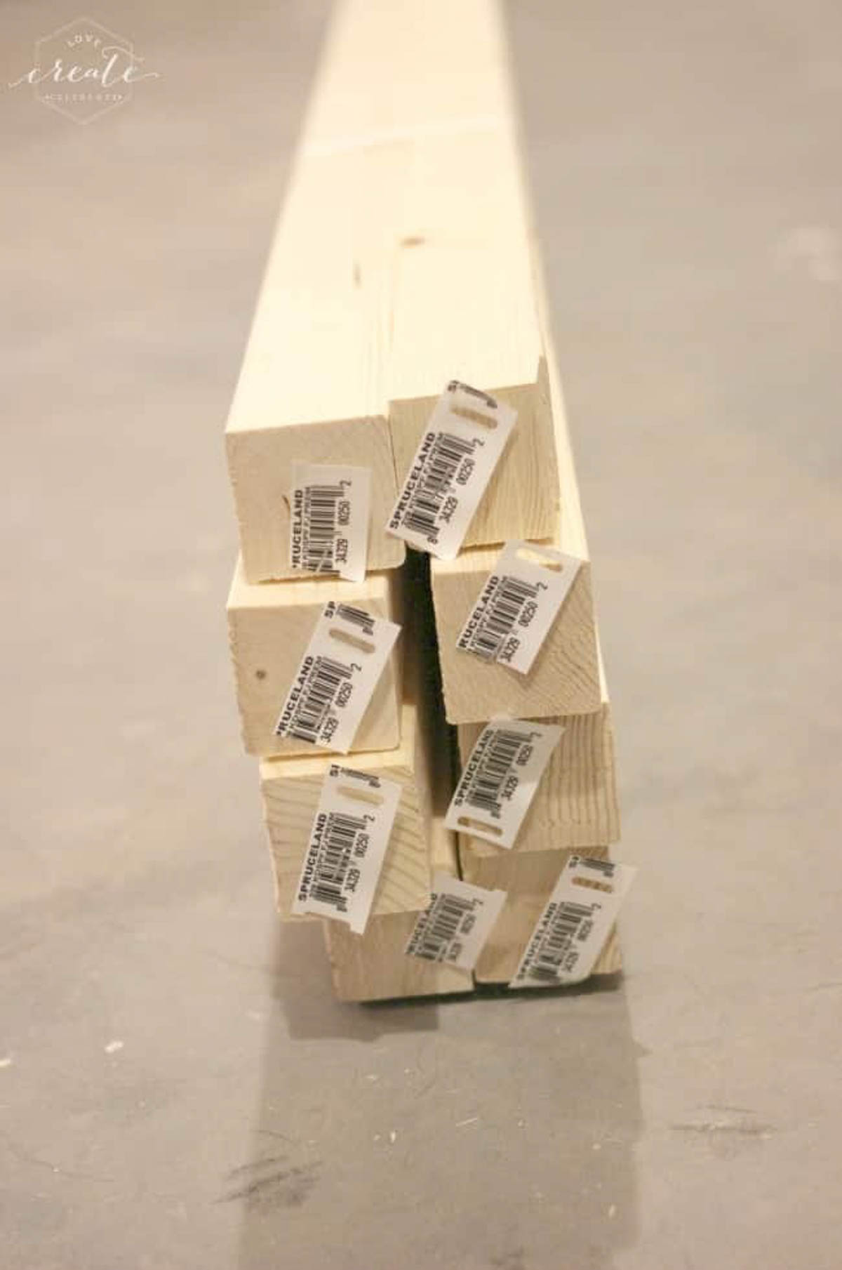 Wood for creating the frame for the industrial pendant light